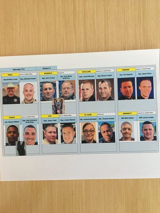 Tonight's #livepd lineup! See you @OfficialLivePD at 9p Photo
