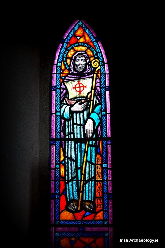 Beautiful stained glass depiction of St. Brendan the Navigator at Ballyferriter church, Co. Kerry <br>http://pic.twitter.com/6Tfk7vGsvT