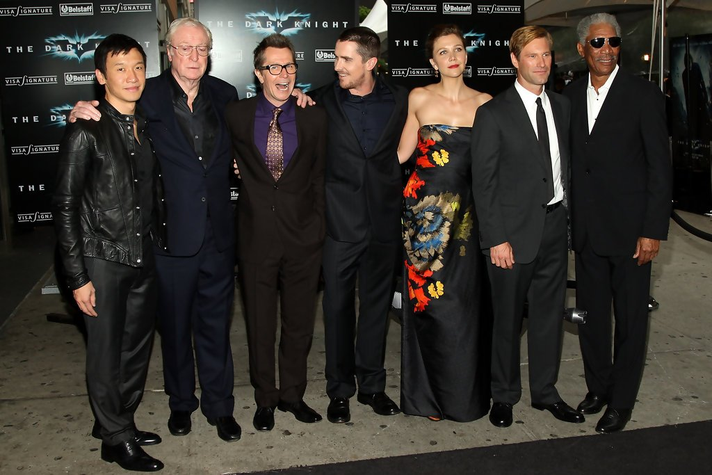 John Sant On Twitter Christian Bale Michael Caine Gary Oldman Morgan Freeman Maggie Gyllenhaal Aaron Eckhart Chin Han At The Premiere Of The Dark Knight At Amc Loews Lincoln Square