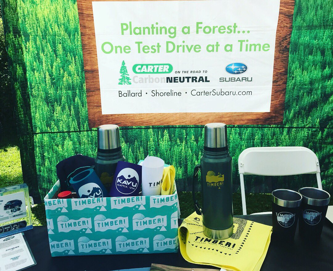 Our friends and title sponsors @cartersubaru are giving away a sweet #timberfest prize pack, which includes tickets to next year's festival! Stop by their booth before 7pm to enter! https://t.co/1sUzEl0nOR