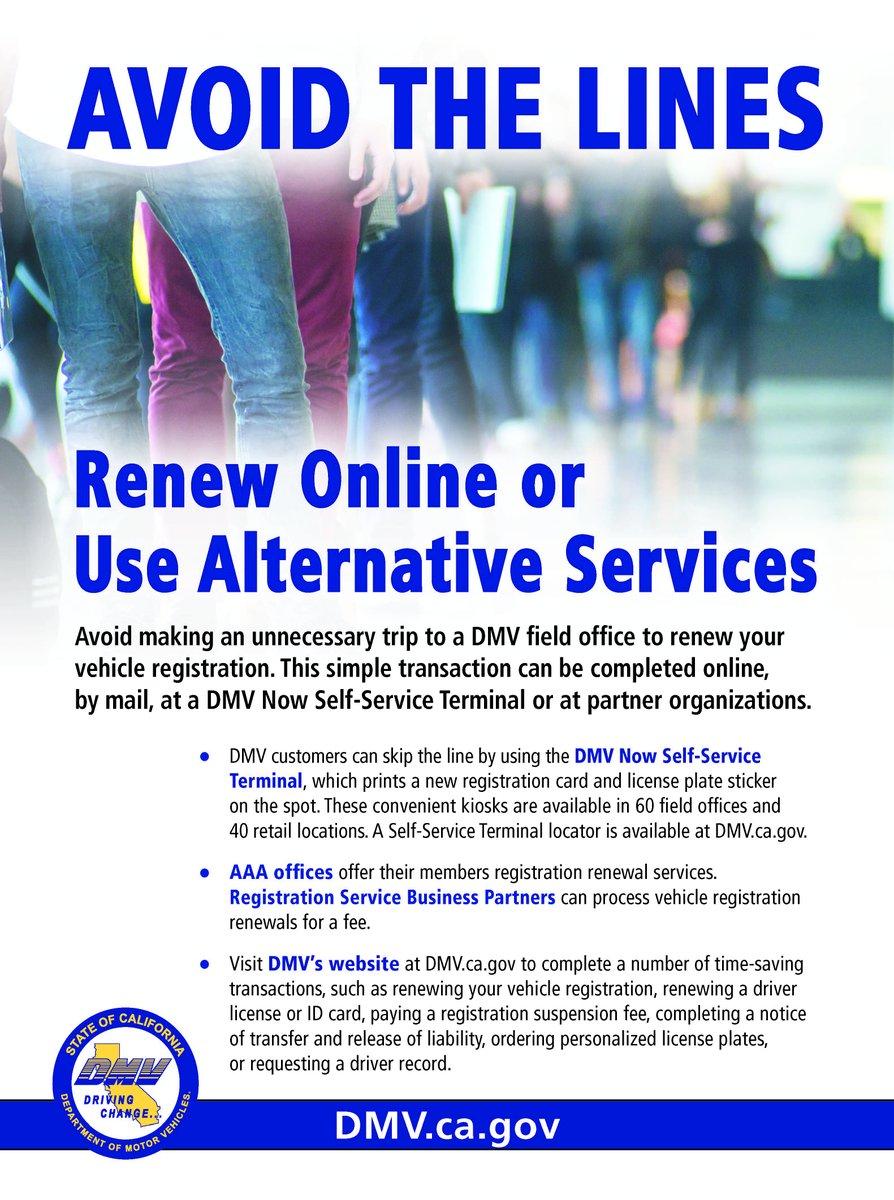 Vehicle Registration Renewal Ca >> Ca Dmv On Twitter Renew Your Vehicle Registration Online By Mail
