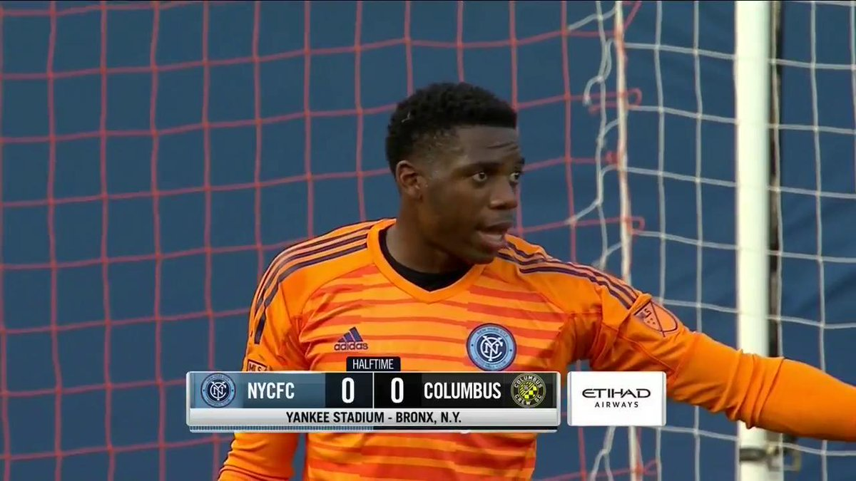 Halftime: We're scoreless in the Bronx. #NYCFConYES