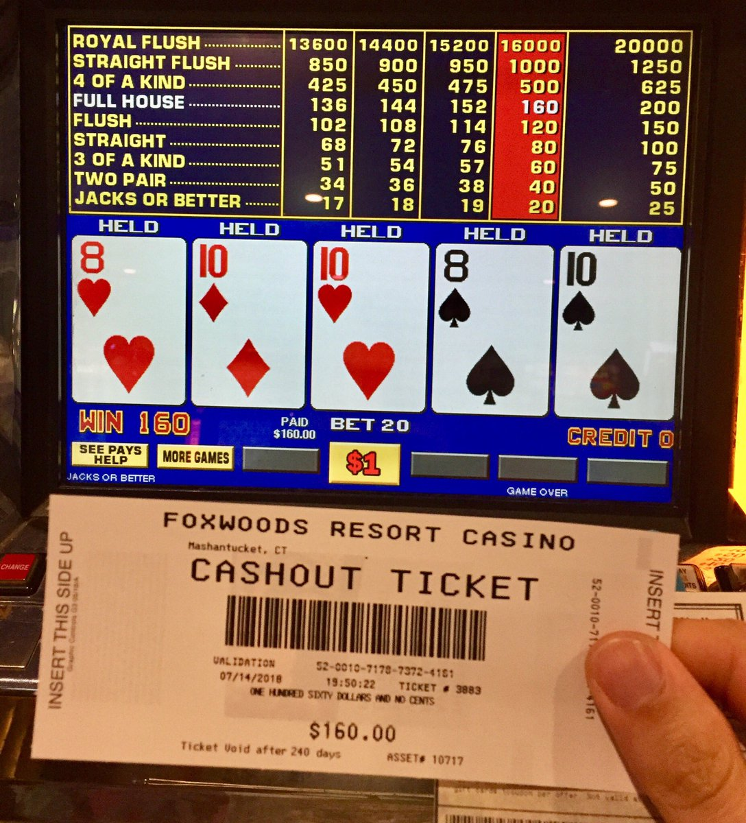 Place betting system craps