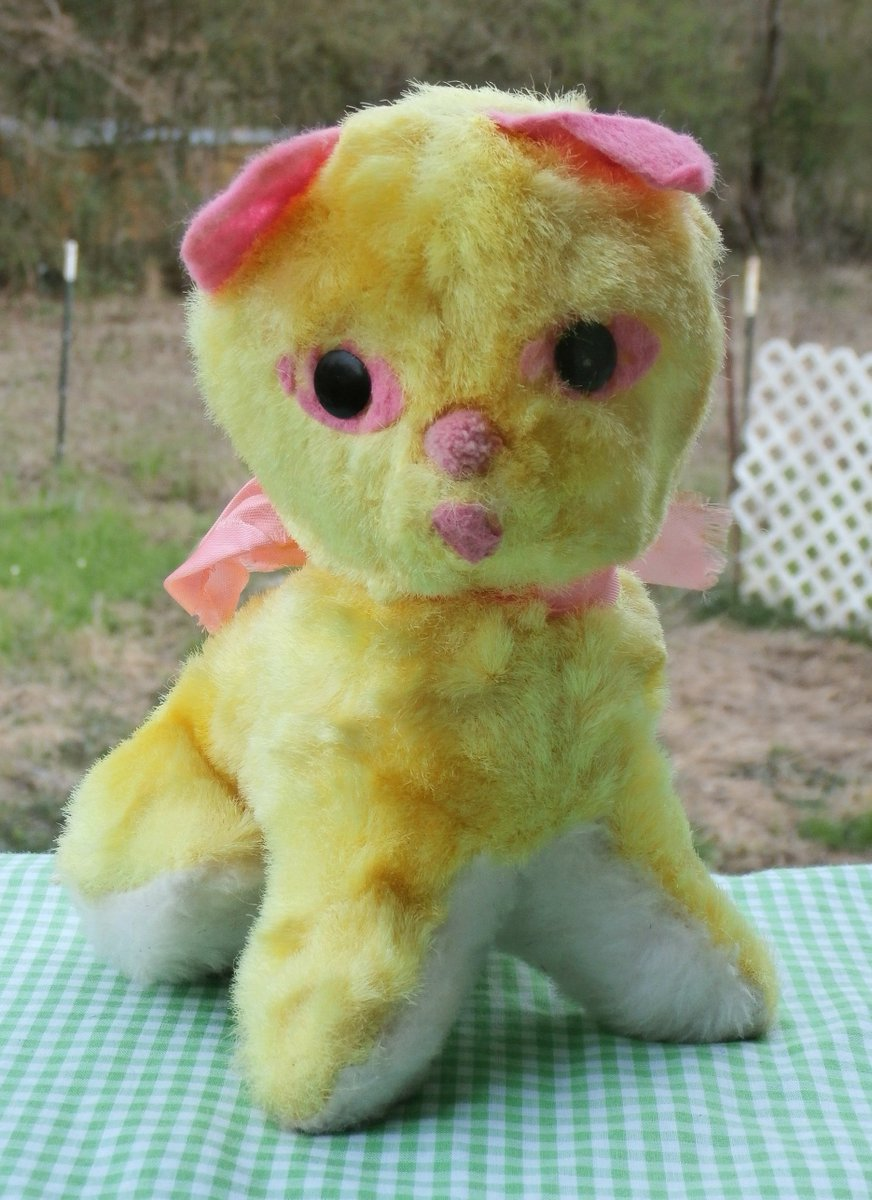 Mendozam On Twitter Yellow With Pink Plush Kitty Cat Carnival