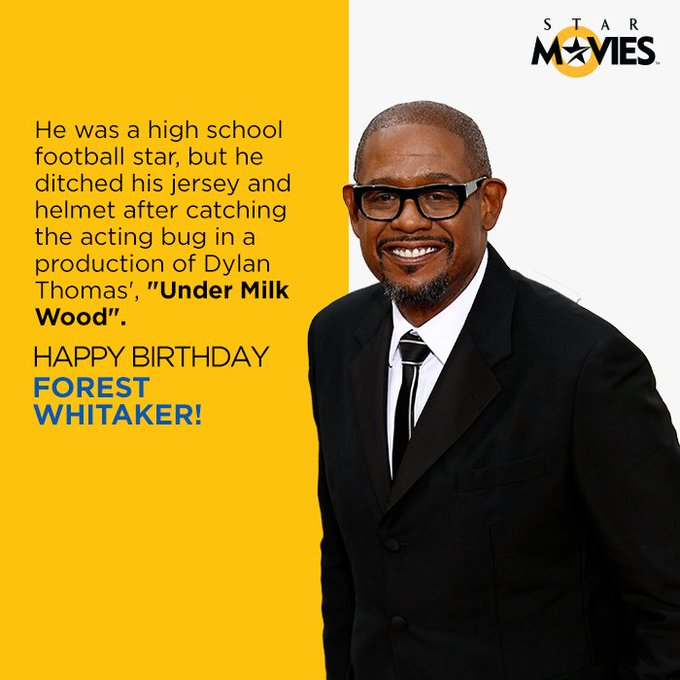 We d definitely like to thank that acting bug. Happy Birthday, Forest Whitaker!