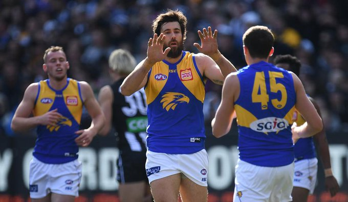 FT | A win that puts the rest of the competition on notice. West Coast passes the MCG test with flying colours. @WestCoastEagles @CollingwoodFC MORE: Photo