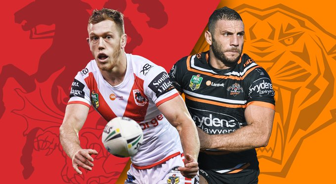 #NRLDragonsTigers: Game Preview - Match Centre - #NRL Photo