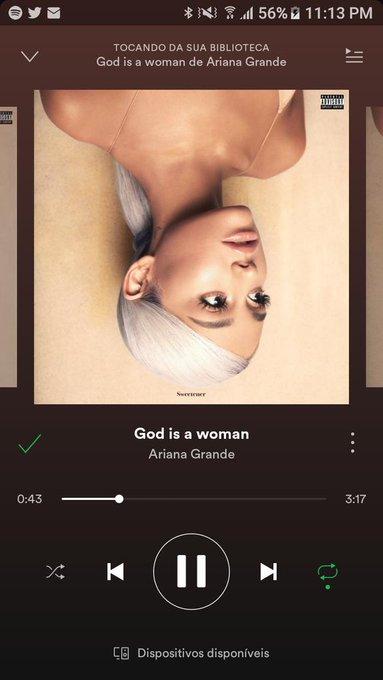 assim gente, se não for muito incômodo vocês poderiam ouvir #GodIsAWoman e tbm dar views no clipe rsrs #fcseguindoapenasfcs Photo