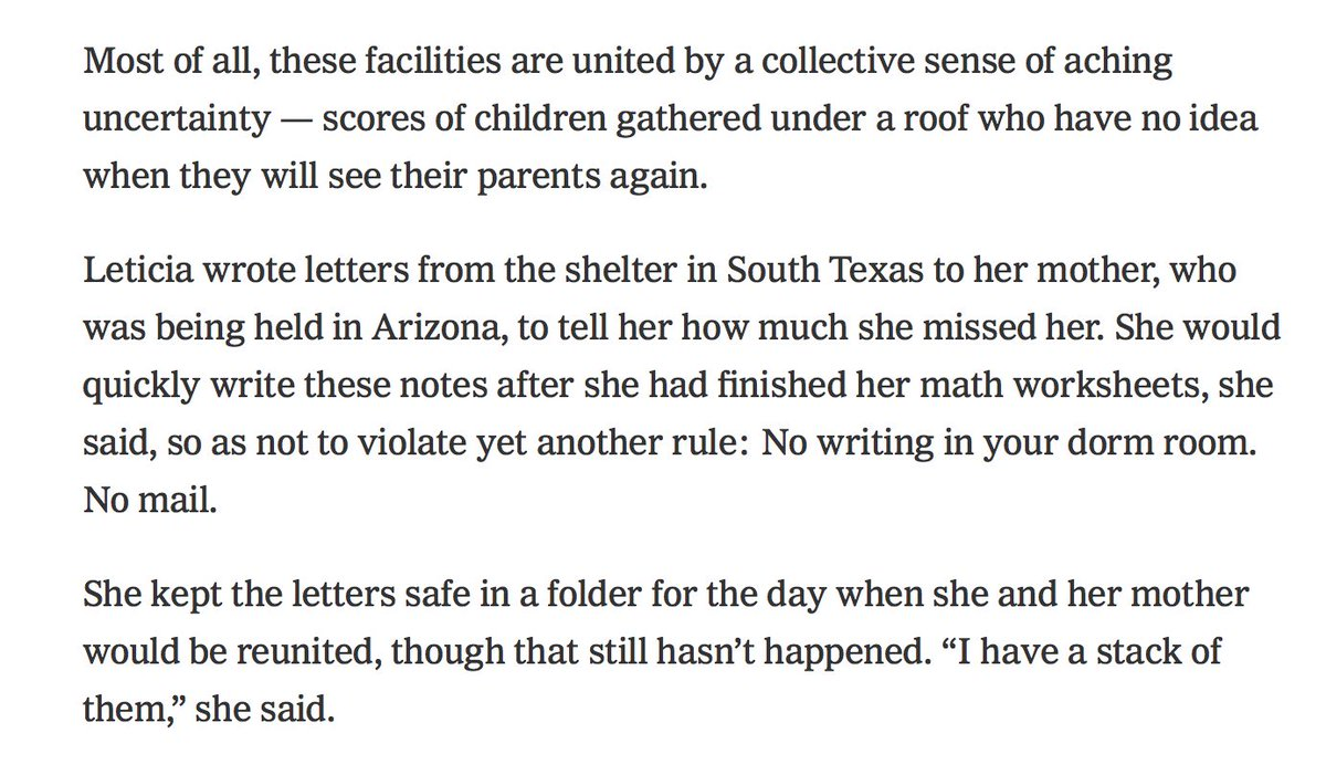 Heart-wrenching: What life is like in the camps for immigrant children: https://t.co/pJ6ICS9B9T
