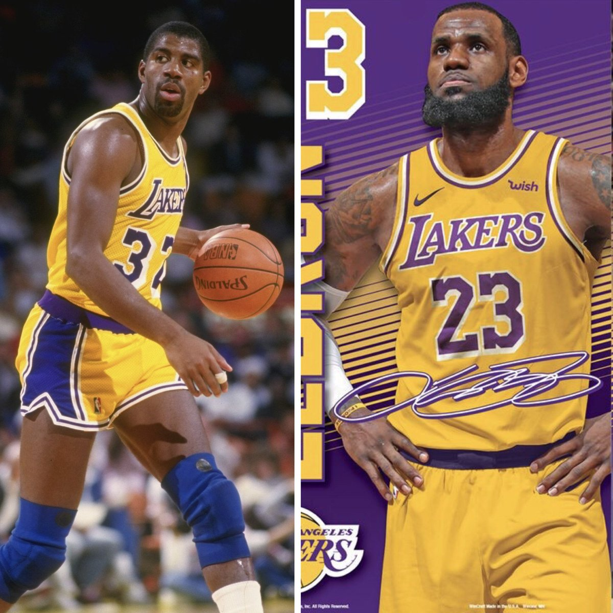 17a081185 The Lakers new jerseys might have leaked and they look very similar to the  iconic Showtime jerseys.