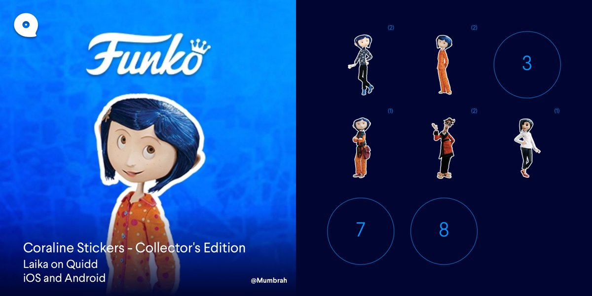 Mumbrah On Twitter Coraline Stickers Collector S Edition Laika Quidd Https T Co 93xgx1p7bc Got My Funko Laika Sticker No 4 Anyone With No 3 N Is Interested In Trading It Plz Dm