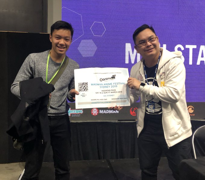 Congratulations Glen!! Winner of this ridiculously large ticket to the very first #MadFest Sydney 2019. 🎊👏✨#SMASHcon Photo