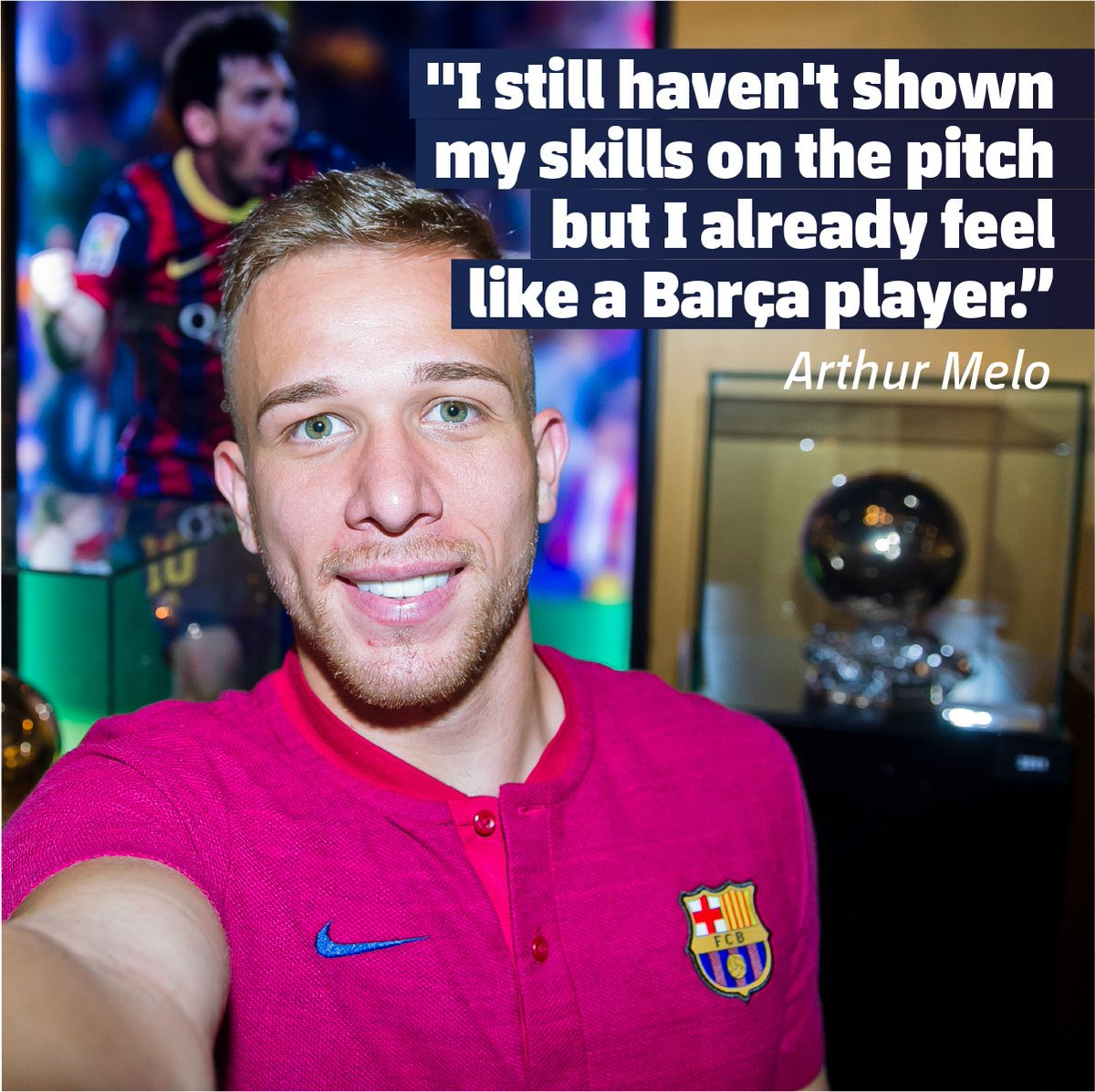 🤩 @arthurmeloreal has visited the Camp Nou Tour to feel like a Barça player. Do you want to feel it as well? ⚽Get your ticket here 👉ow.ly/yX1V30kTKcB 🔵🔴#EnjoyArthur