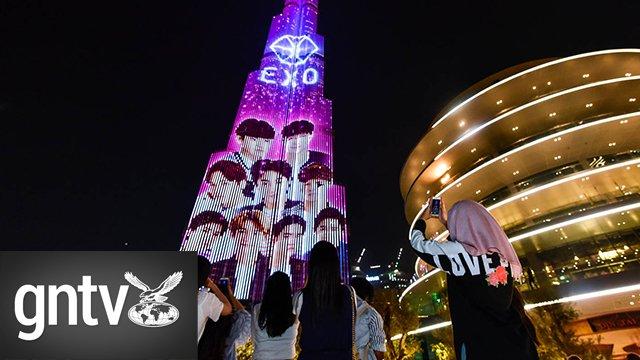 #Video: #KPop sensation #Exo and their fans take over the @BurjKhalifa: https://t.co/jmGlCYXSIU @GulfNewsTabloid