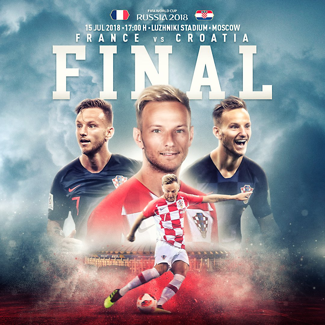Today is the day... #WorldCupFinal 🇫🇷🆚🇭🇷 #Russia2018 ⚽️