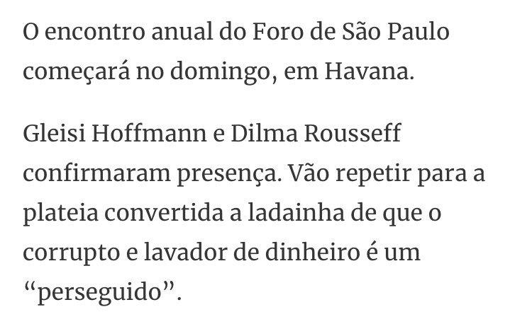 Gleisi e Dilma vão para Cuba https://t.co/VxCYE8qM2a