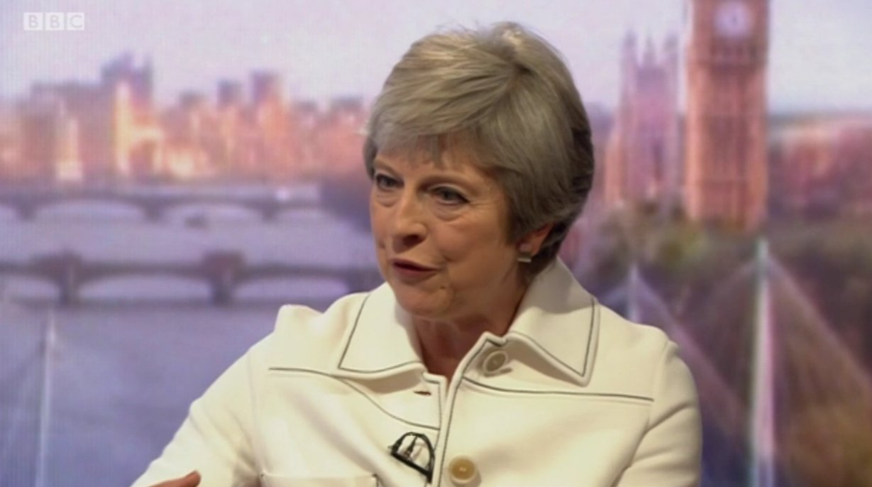 'The common rule book enables us to strike trade deals around the rest of the world,' says @theresa_may on #Marr https://t.co/qL9KRGFYSl