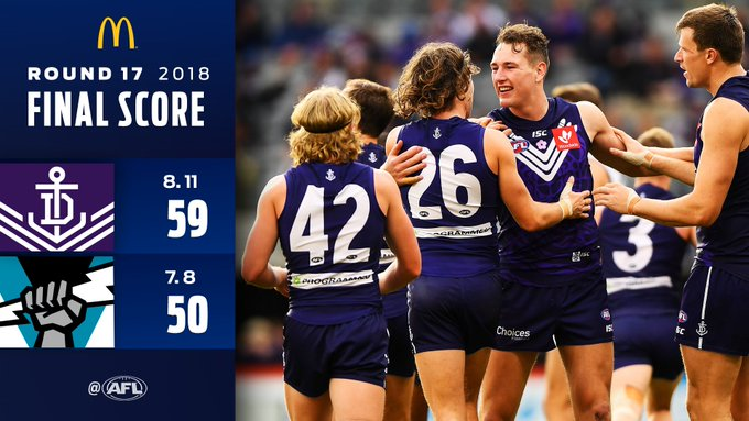 @freodockers @PAFC Fremantle gets its seventh win of the season in a tight tussle at Optus Stadium: Photo