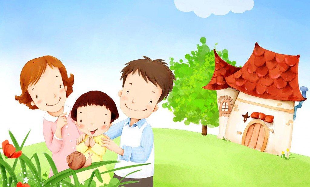 Днем рождения, открытки моя семья для детского сада