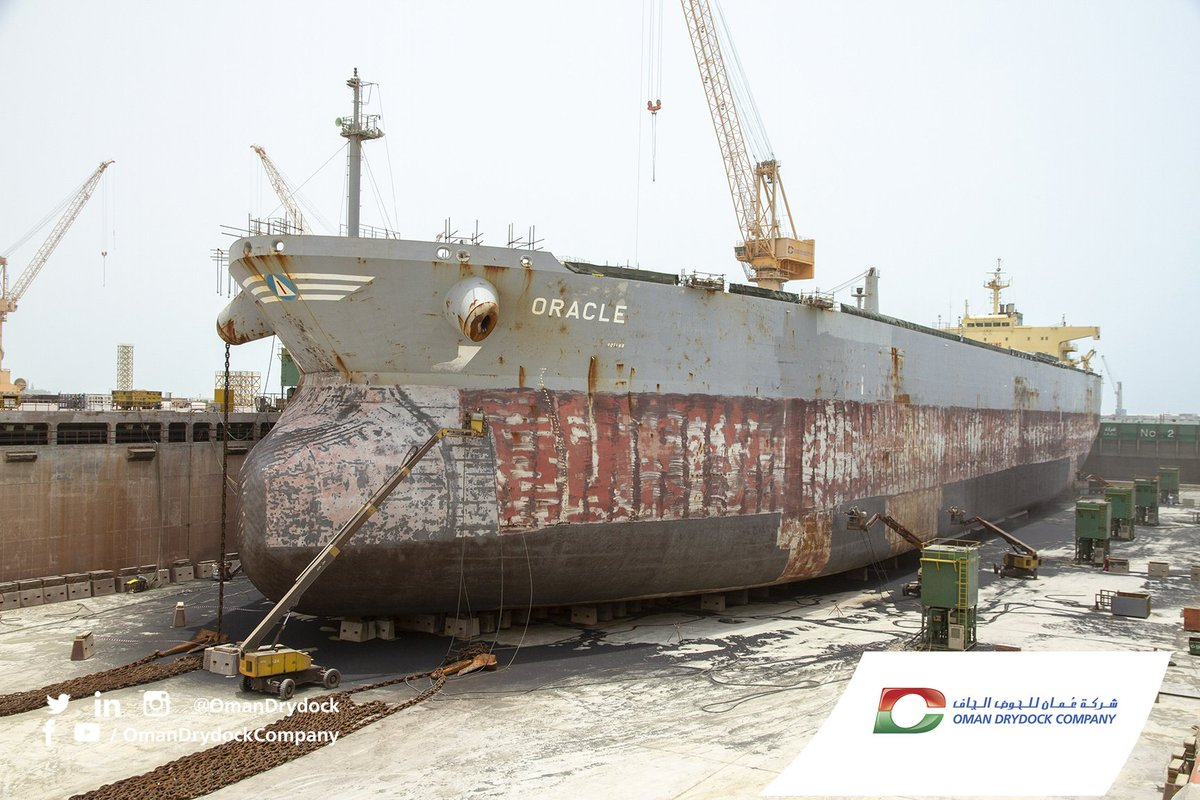 Oman Drydock Company On Twitter Greek Crude Oil Tanker Oracle From Samos Steamship Enters The Graving Dock For General Repair Jobs At Oman Drydock Https T Co Wqqquruqwd