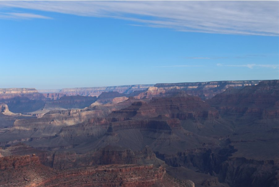 It&#39;s a mild morning at Grand Canyon&#39;s South Rim at 64 degrees with visibility of 156 miles. Here&#39;s a look from an NPS webcam. <br>http://pic.twitter.com/wzPdbk35oM