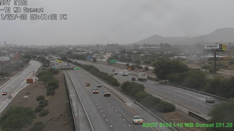 Rain in parts of Tucson have roads wet and slick. Braking distances are increased. Slow down. #Tucson