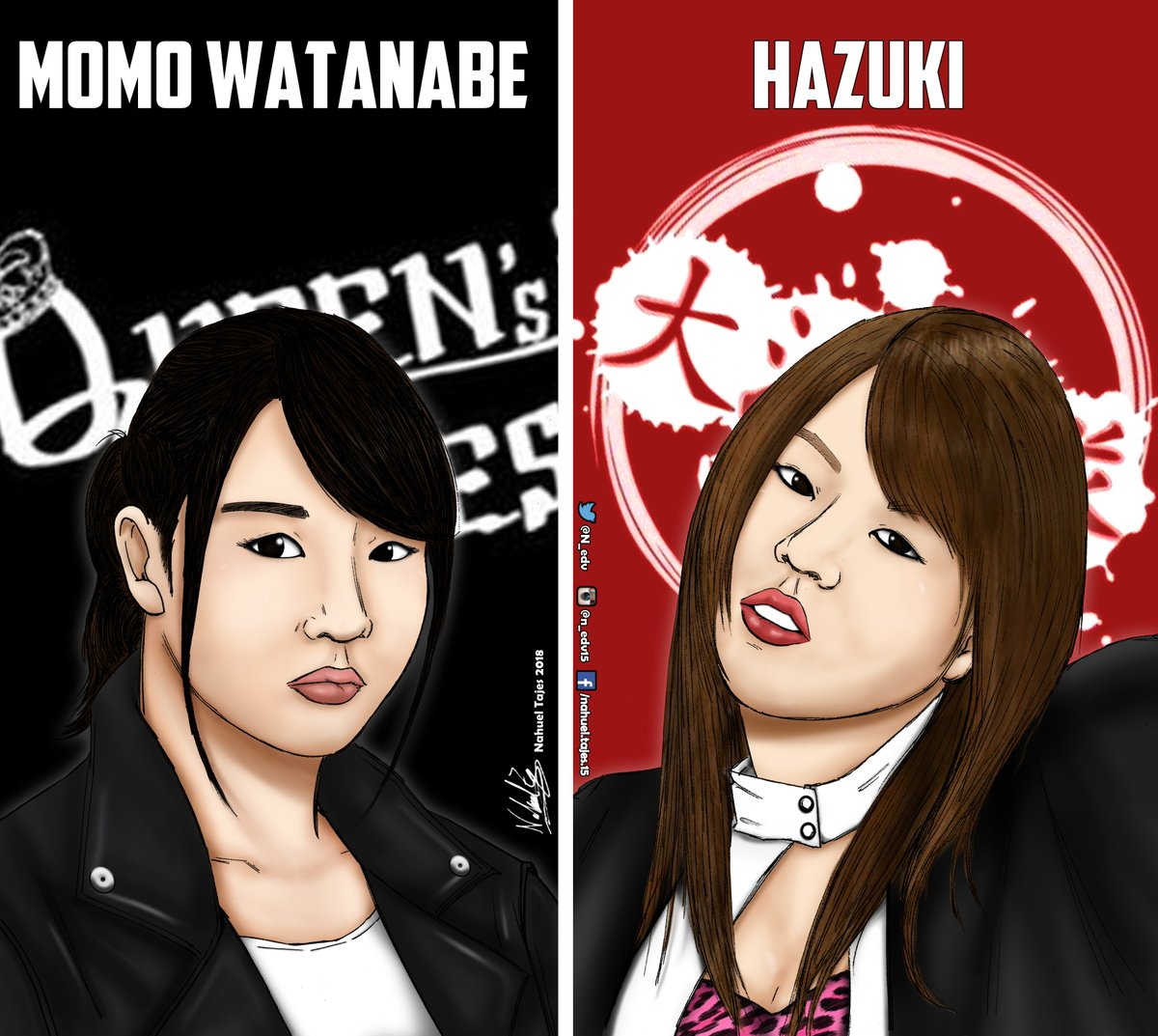 Wonder of Stardom Title July 16, Korakuen Hall  @stardom_momo vs @0929_hazuki   #Stardom #WeAreStardom #fanart #joshi #drawing #dibujo #スターダム #QueensQuest #OedoTai #Hazuki #MomoWatanabe @we_are_stardom @wwr_stardom @totaldivaseps<br>http://pic.twitter.com/He61tLmK5Z