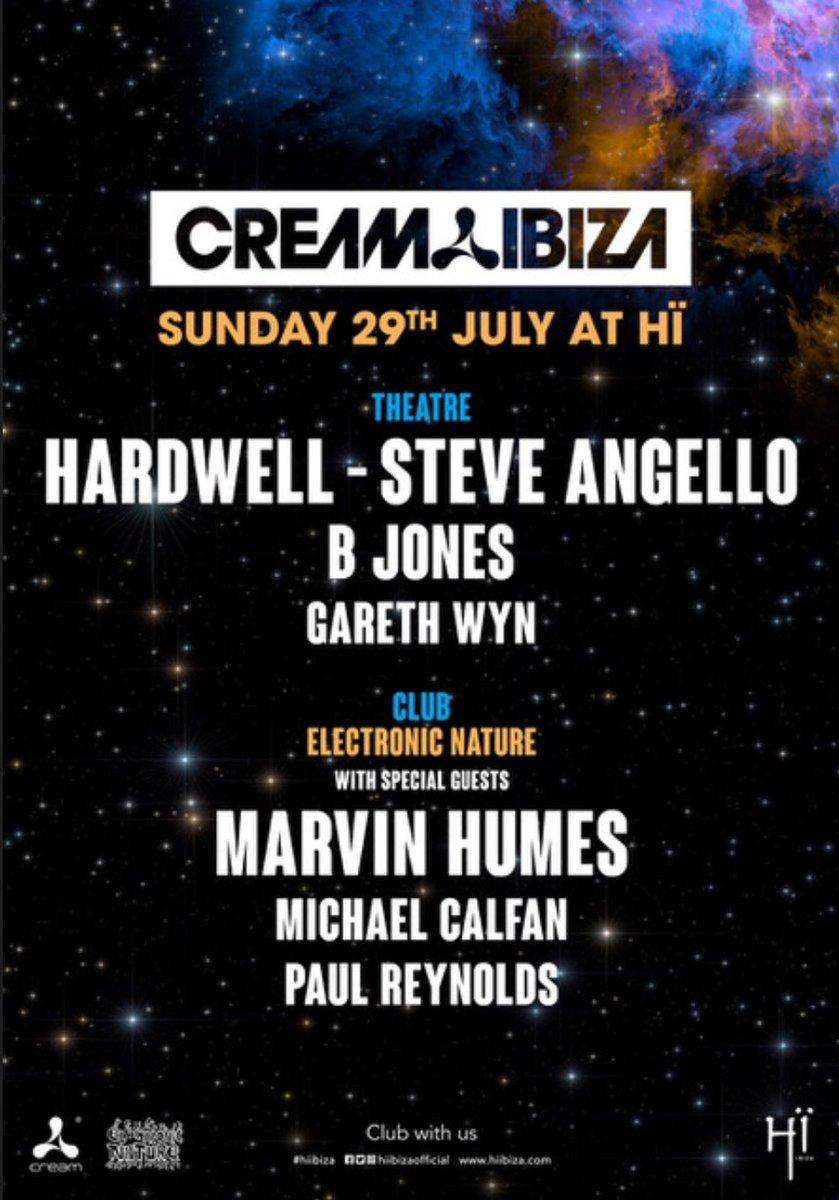 Ibiza..i'm coming back for you again Sunday 29th July!! Headlining the Club Room @hiibizaofficial @CreamIbiza for my boy @JonasBlueMusic @michaelcalfanwith @DjPaulReynolds and  🙌🏾