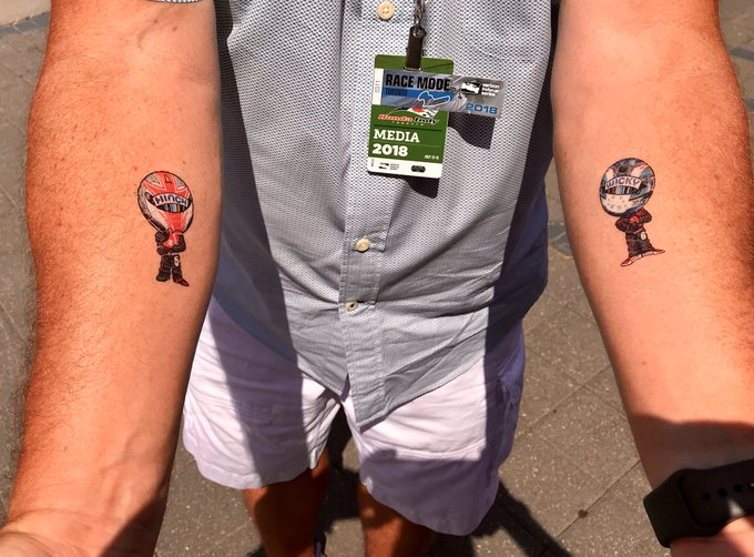 I stopped in at @TOMotorsports and walked out tattooed! #IndyTO Photo