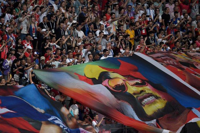 The Luzhniki Stadium is absolutely buzzing. #FRACRO #WorldCupFinal LIVE: Photo