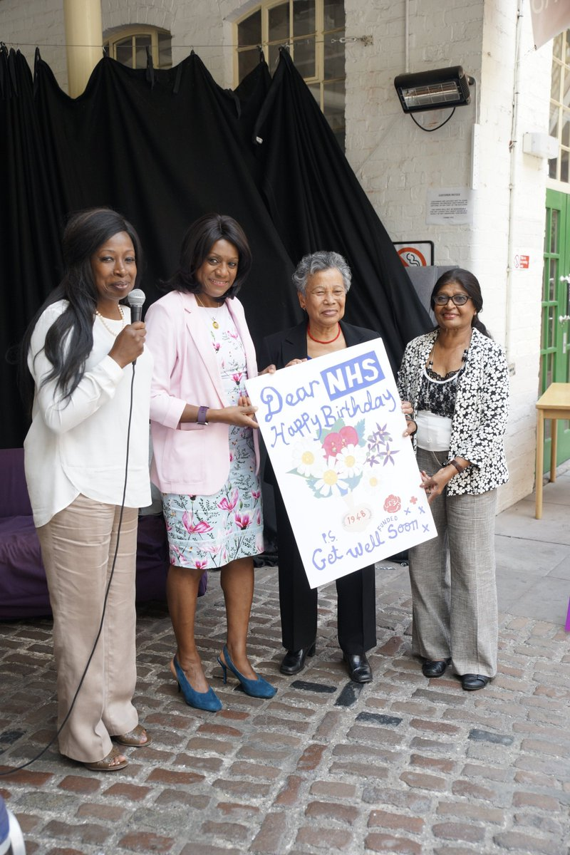 Yesterday we launched our ongoing campaign to Defend #OurNHS! Great discussion on how we must act fast &amp; campaigning priorities. Also a great honour to present an #NHS70  birthday card to #Windrush nurses Dorothy &amp; Dolly. We will #SaveOurNHS!<br>http://pic.twitter.com/yp0dUIlVb8