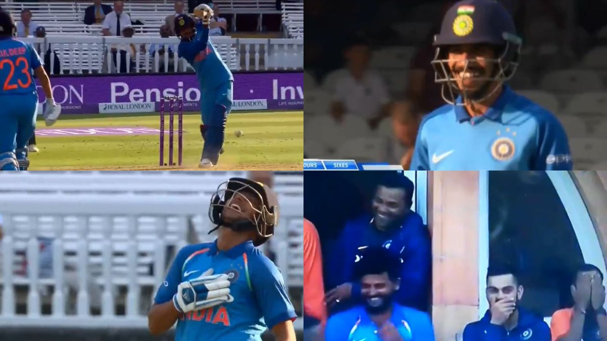 test Twitter Media - Watch: Virat Kohli, Kuldeep Yadav, Indian dugout in splits after Yuzvendra Chahal's first-ever boundary #TeamIndia #ENGvIND  https://t.co/9WcLYjYDeW https://t.co/5faFsfCGw8