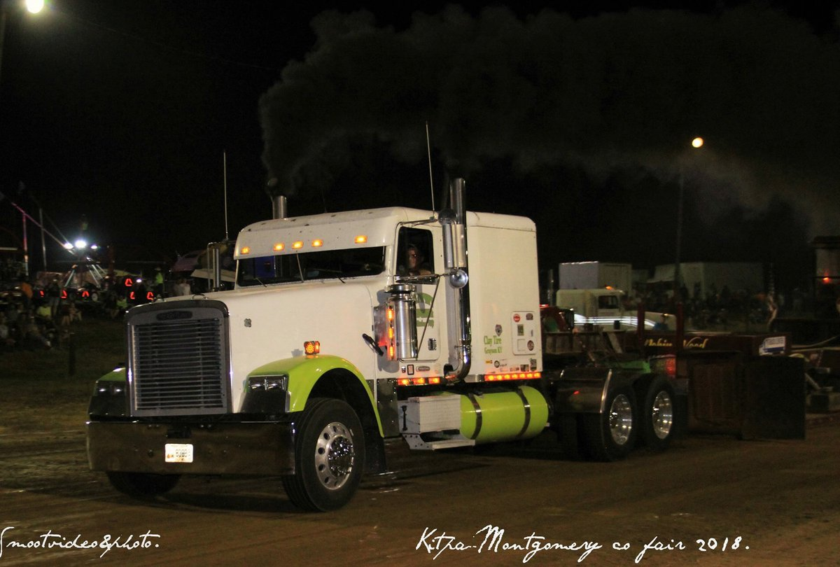 chris smoot on twitter mark ward of maysville ky pulling his semi truck called justified 2 in the street semi truck class this was at kitpa pull at the montgomery co fair twitter