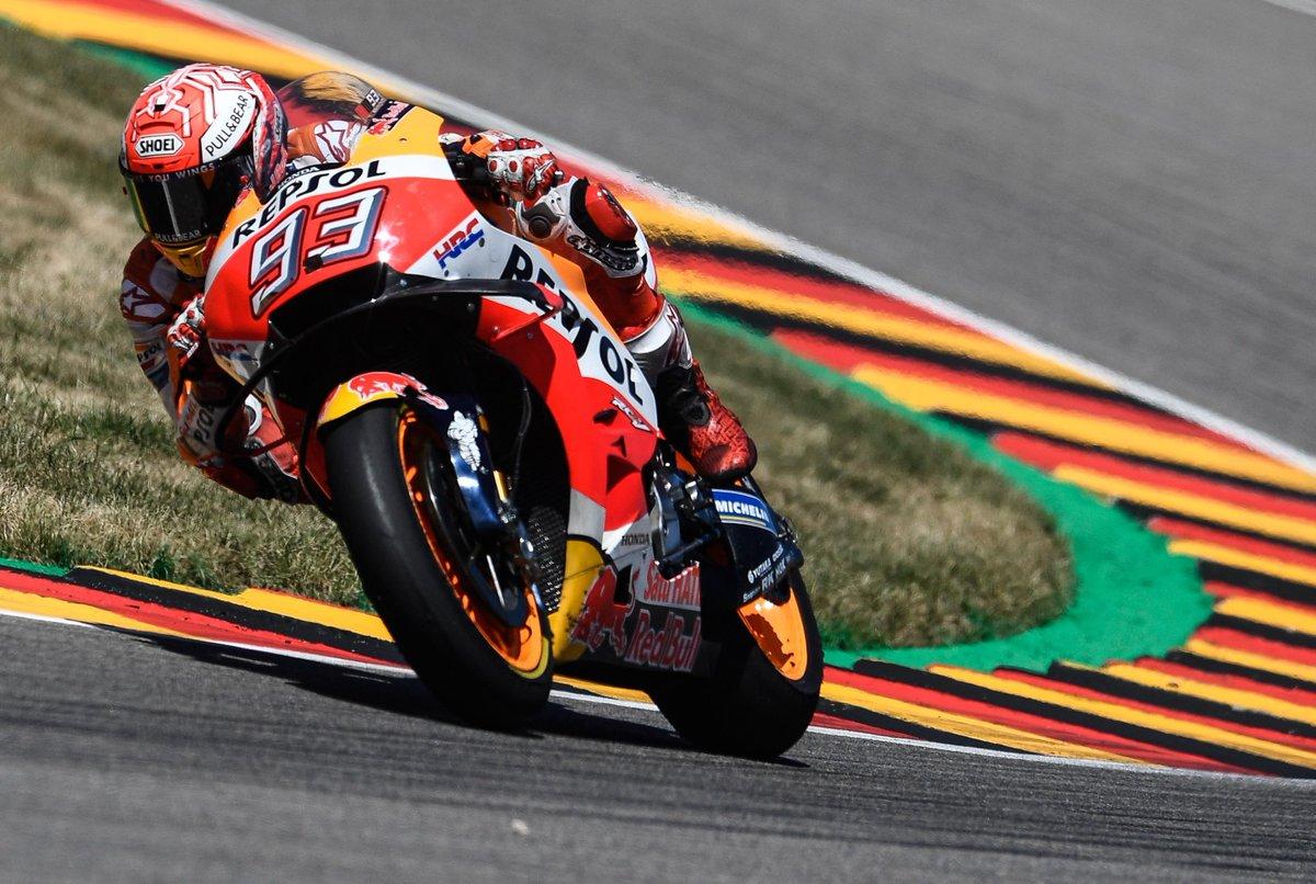 #MotoGP, trionfa #Marquez in Germania, secondo #Rossi davanti a #Vinales