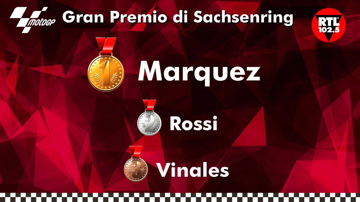 #MotoGp, nel Gran Premio di Germania trionfa #Marquez davanti a Vale #Rossi e a #Vinales