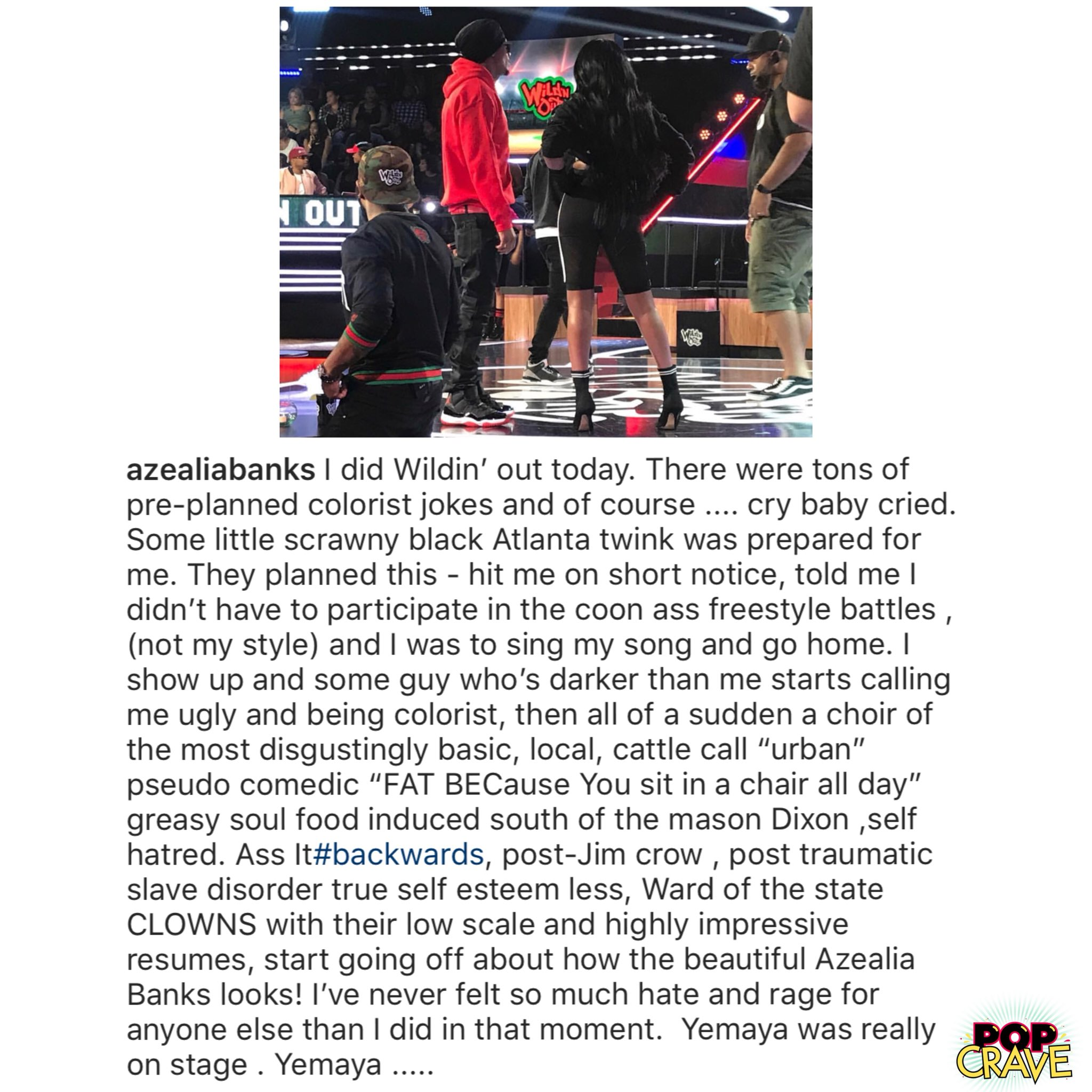 Pop Crave On Twitter Azealia Banks Reveals Wildnout Made Her Cry After They Ambushed Her With Jokes About Her Appearance And Skin Color I Ve Never Felt So Much Hate And Rage Https T Co Btoflwgglb