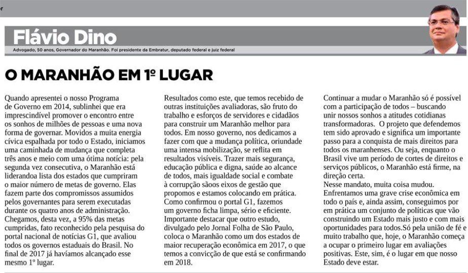 Meu artigo desta semana trata sobre resultados positivos que temos alcançado com a execução do Programa de Governo que apresentamos em 2014. Já executamos 95% dos nossos compromissos, como constatou o Portal G1, o maior percentual do Brasil.