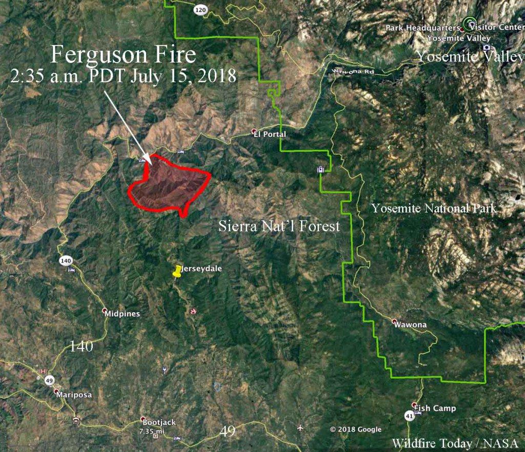 Ferguson Fire California Map.Wildfire Today On Twitter Fergusonfire Forces Evacuations In