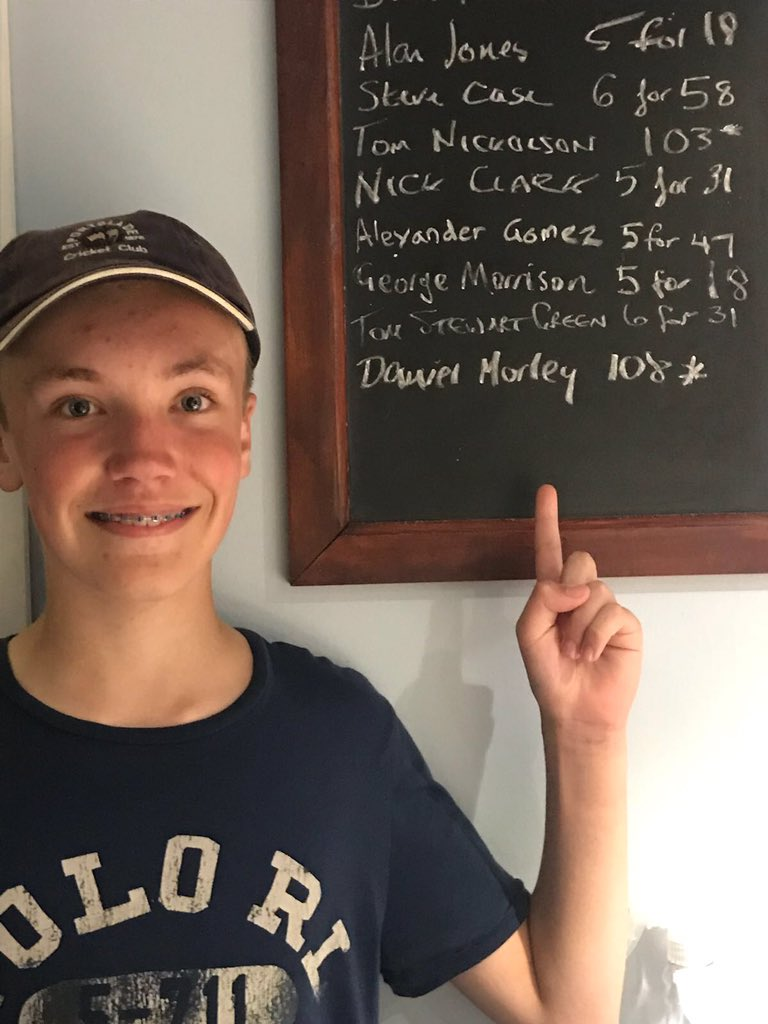 Junior player becomes one of the youngest ever to hit century in Sussex Cricket League match. https://trib.al/zGeEWtH
