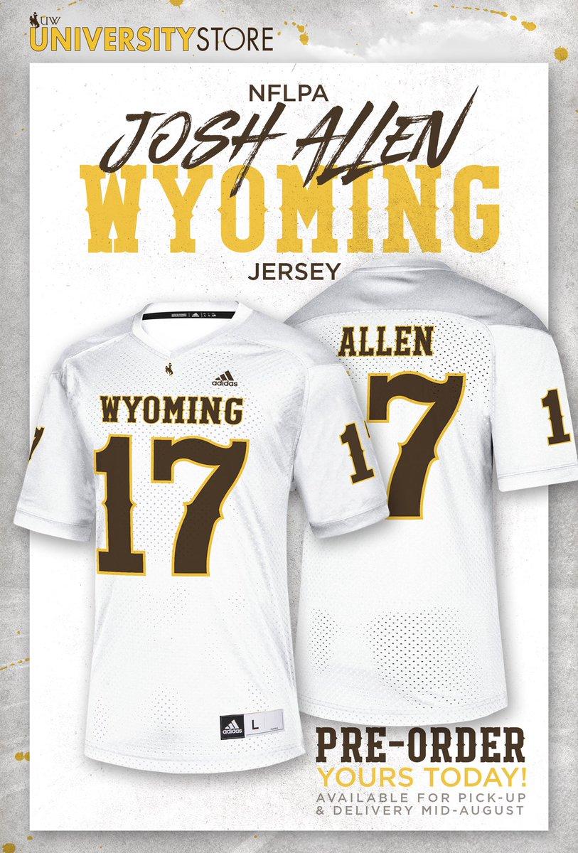 josh allen wyoming jersey