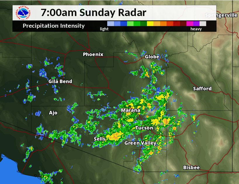 Steady light rain with embedded showers across SE AZ this morning. #azwx