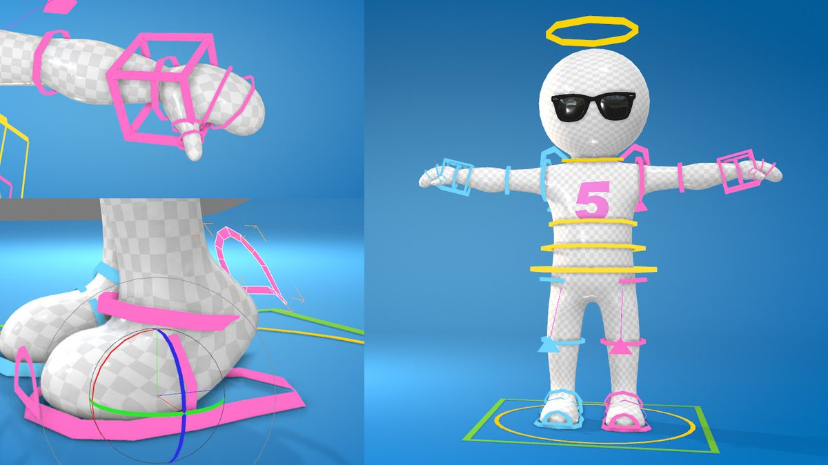 Cinema 4d Rigged Character