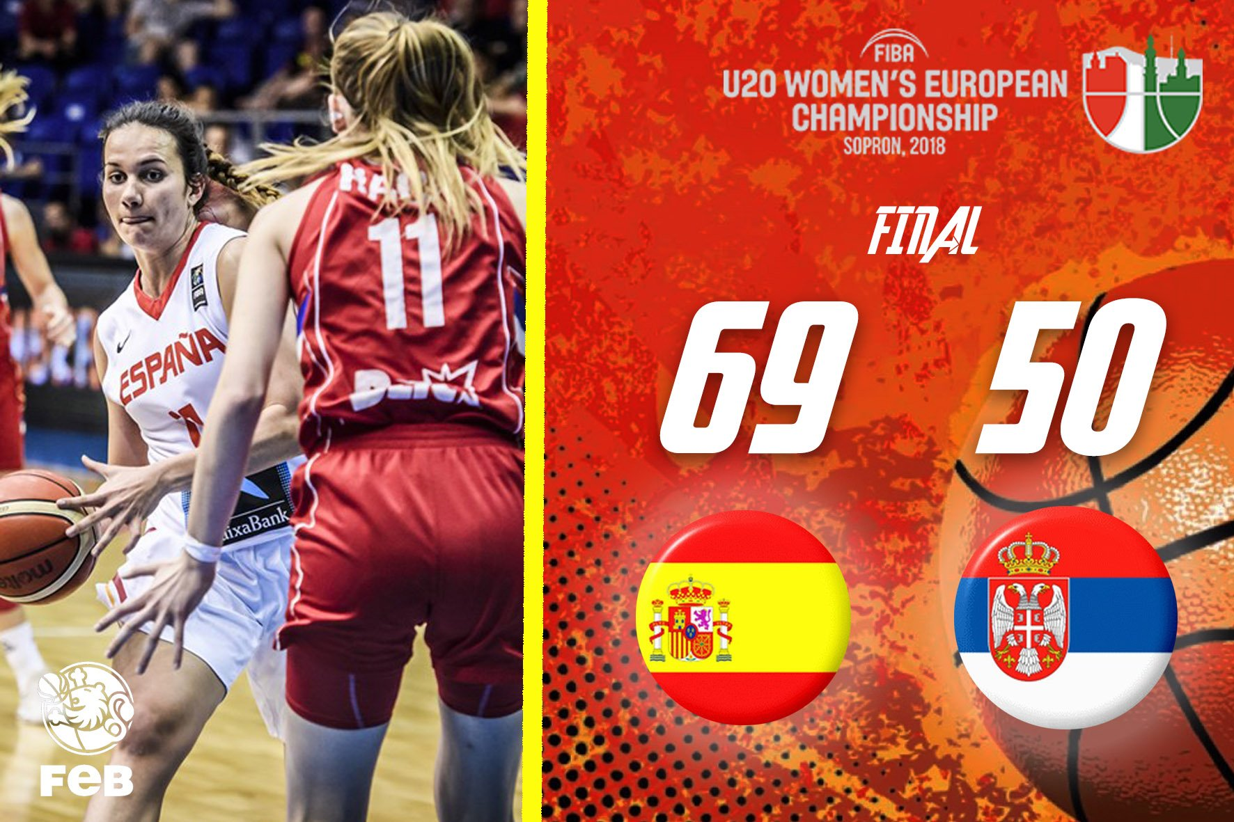 ��¡CAMPEONAS de Europa!��   #FIBAU20Europe  FINAL | #U20F  ���������� �� https://t.co/y5FnaavKRk  #SomosEquipo https://t.co/Xnyxk1Wqkc