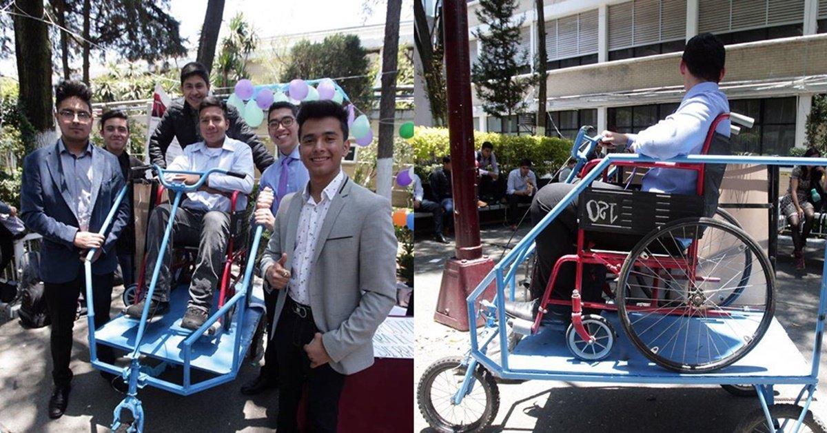 Estudiantes del IPN crean auto para personas con discapacidad https://t.co/M2zfWsgncn https://t.co/dbizJ5gYk7