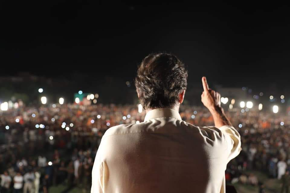 Massive crowd in Jinnah stadium Sialkot warmly welcomed the icon of persistent struggle against corrupt mafia in Pakistan, Imran Khan. People have rejected certified thieves and their stooges and have given verdict in favour of PTI. #WazireAzamImranKhan  #SialkotKaptaanKa<br>http://pic.twitter.com/ZW33RNvoEY