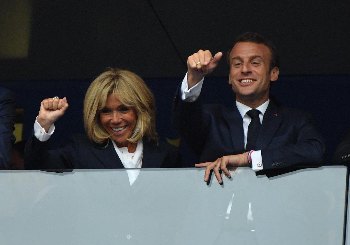 France-Croatie : Brigitte et Emmanuel Macron, complètement déchaînés dans les tribunes https://t.co/MPdplC0d0N
