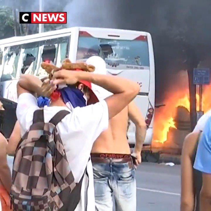 Quelques incidents ce soir, en marge des célébrations après la victoire des Bleus