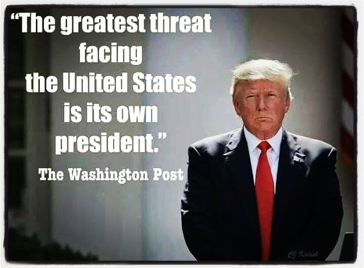 #AMJoy The biggest #Enemy to the United States is sitting in its WH @realDonaldTrump He is a #Traitor to America and must be removed from our WH #Impeachtrump <br>http://pic.twitter.com/Al8f1fFlxC