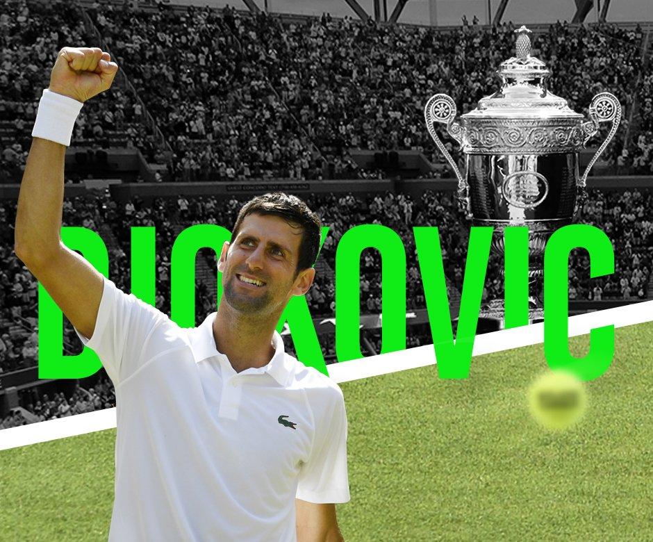 ROI DE #WIMBLEDON !!! Novak #Djokovic remporte son 4ème titre sur le gazon londonien en dominant Kevin Anderson 6-2 6-2 7-6 !  - FestivalFocus