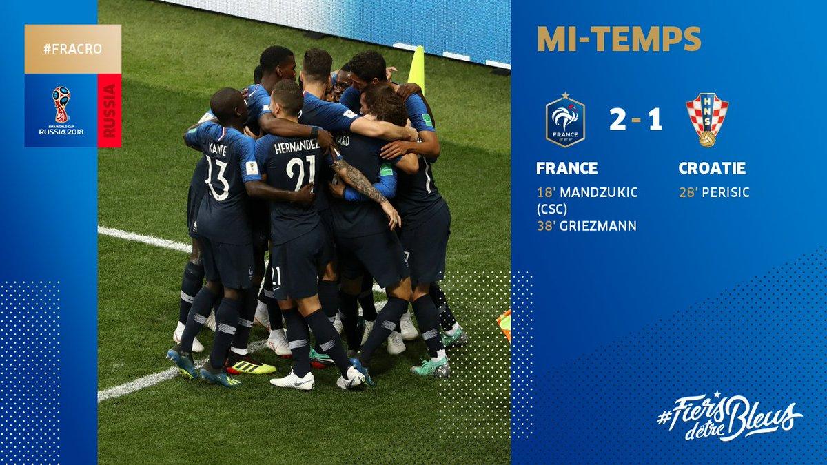 18a890195031d 2-1 pour l Equipe de France !!!! 🔥  FRACRO  FiersdetreBleus